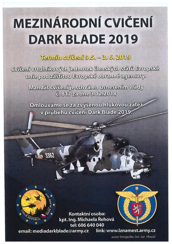 Vojenské cvičení DARK BLADE 2019.